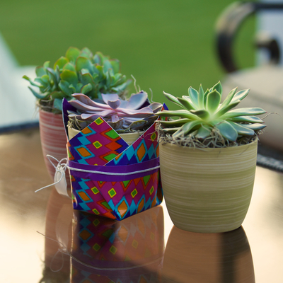 Duck tape plant holder for Mini duct tape crafts