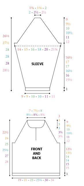 Mom's Classic Sweater Diagram