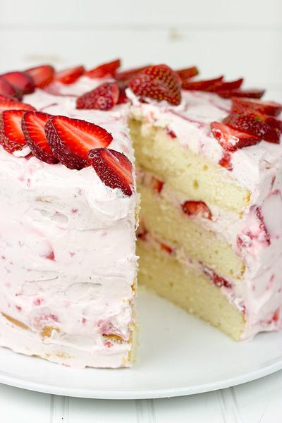 Fresh Strawberry Cake | TheBestDessertRecipes.com