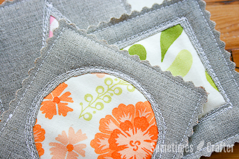 Reverse Applique Quilted Coasters Favequilts Com