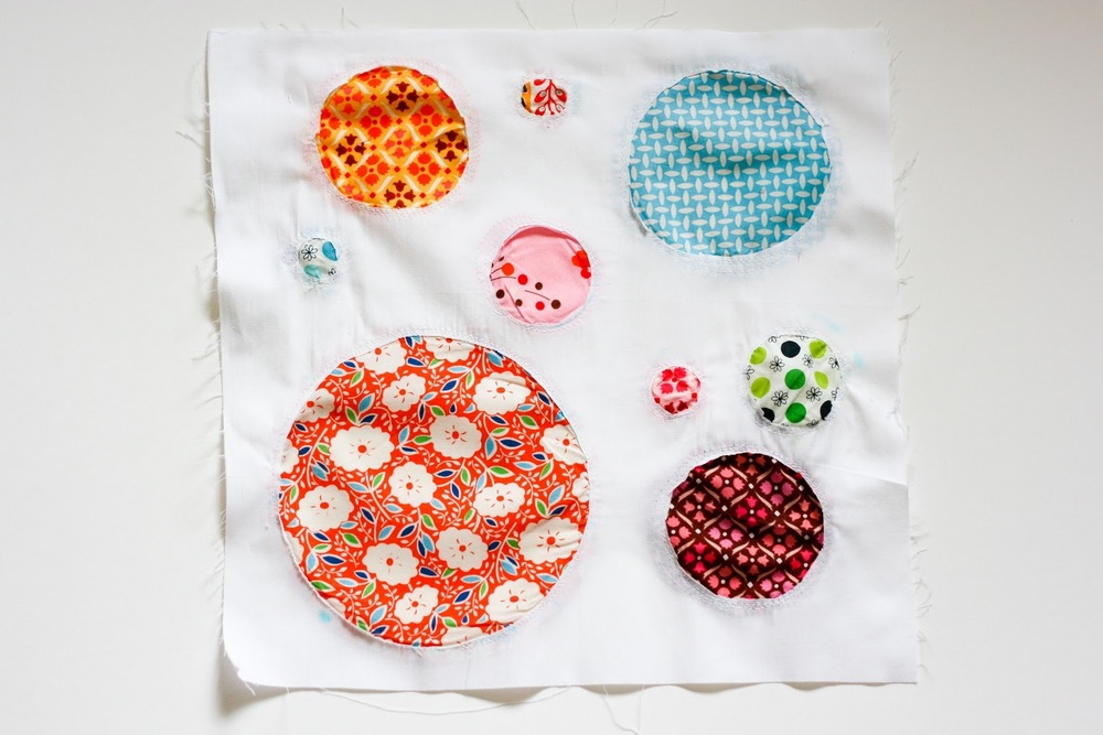 Reverse Applique Circles Block | FaveQuilts.com