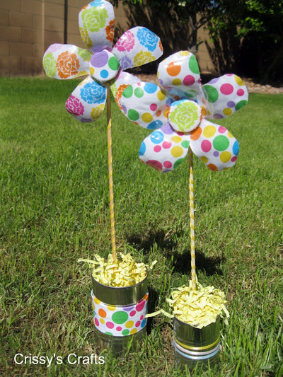 Plastic Bottle Flowers for the Yard
