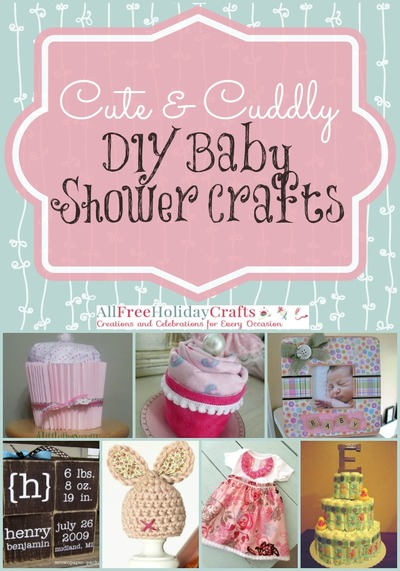 26 cute and cuddly diy baby shower crafts for Baby shower craft decoration ideas