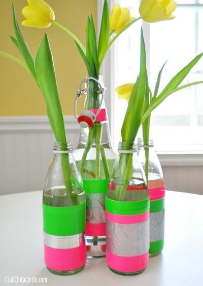 Easy Neon DIY Vase
