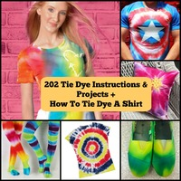 232 Tie Dye Instructions and Projects + How To Tie Dye A Shirt
