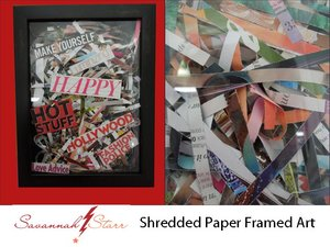 Shredded Paper Frame Art