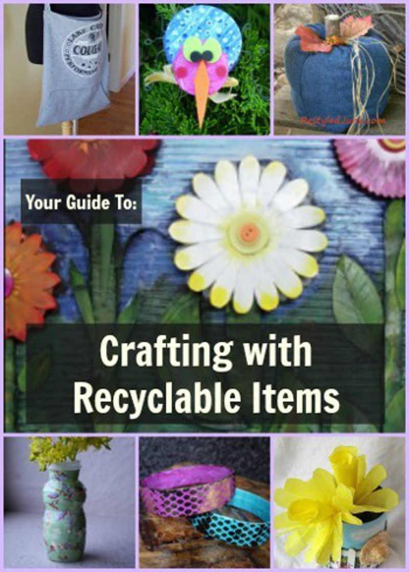 1000 recycled crafts crafting with recyclable items for Recycled crafts to sell