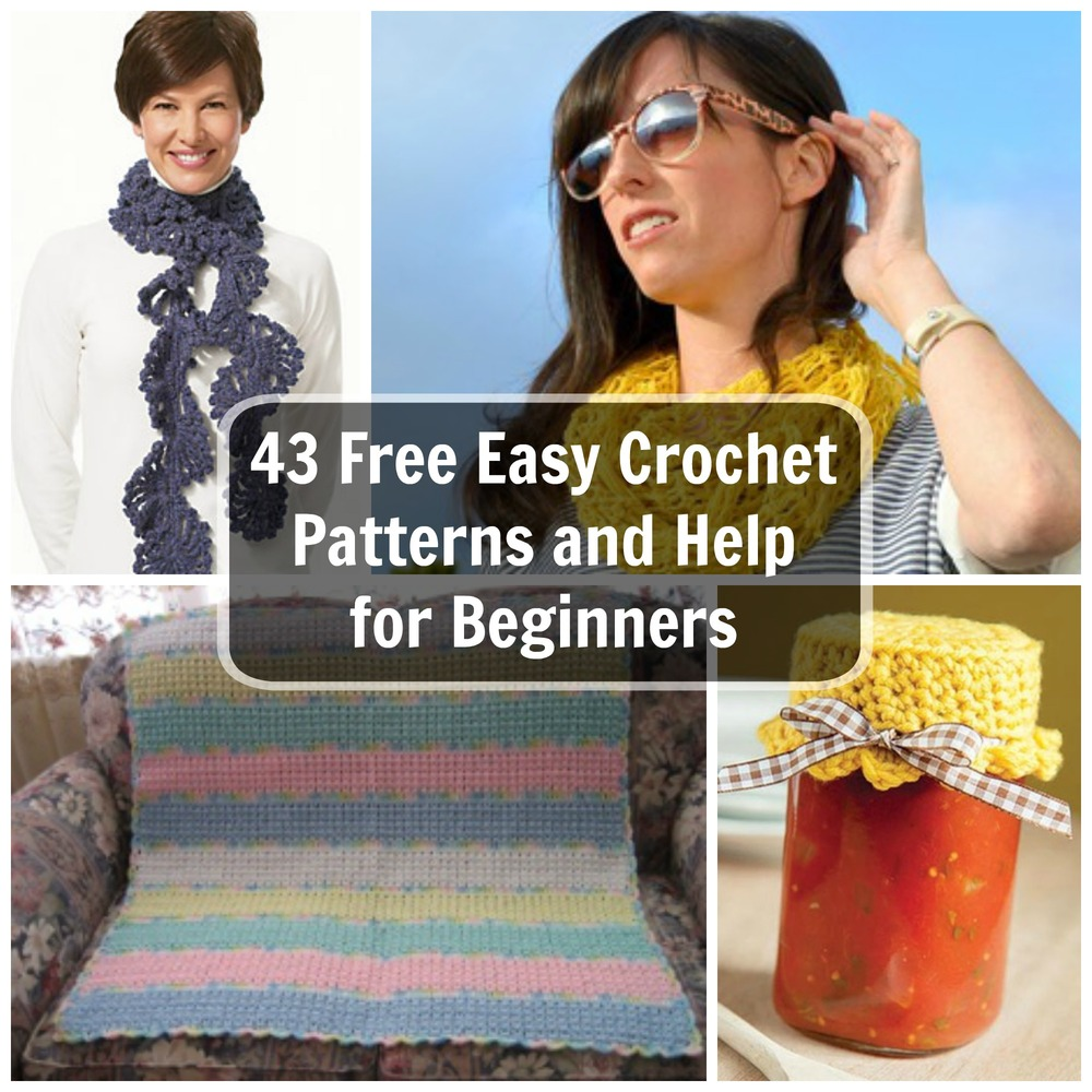 Crocheting Lessons For Beginners : 48 Free Easy Crochet Patterns and Help for Beginners FaveCrafts.com