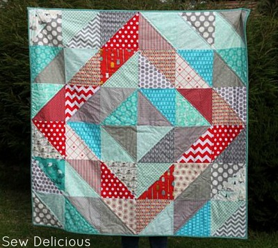 Red Diamond Quilt