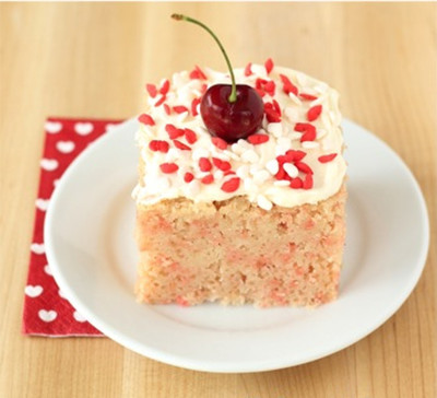 6-Ingredient Cherry Chip Cake
