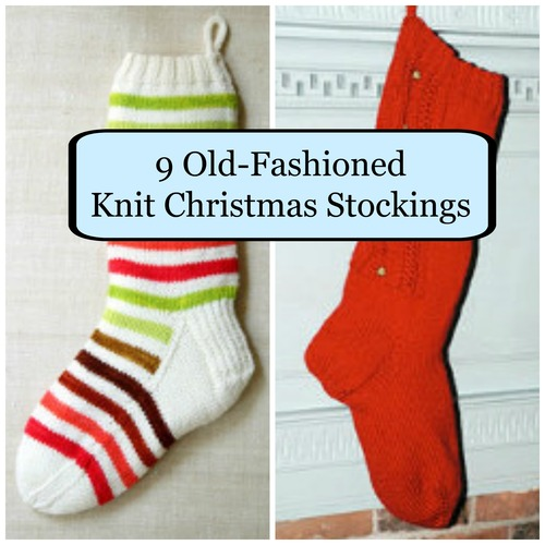 90 Old-Fashioned Knit Christmas Stockings
