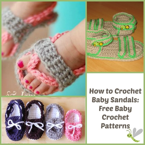 Free Crochet Patterns Sandals For Babies : How to Crochet Baby Sandals: 17 Free Baby Crochet Patterns ...