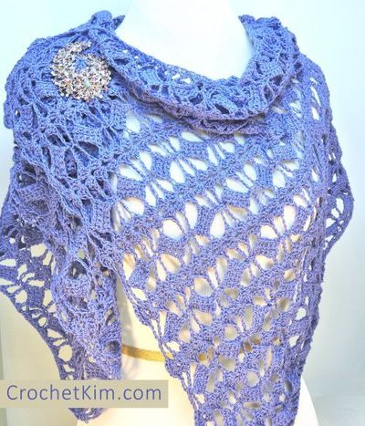 Free Crochet Pattern For Butterfly Shawl : Butterfly Fling Crochet Shawl AllFreeCrochet.com