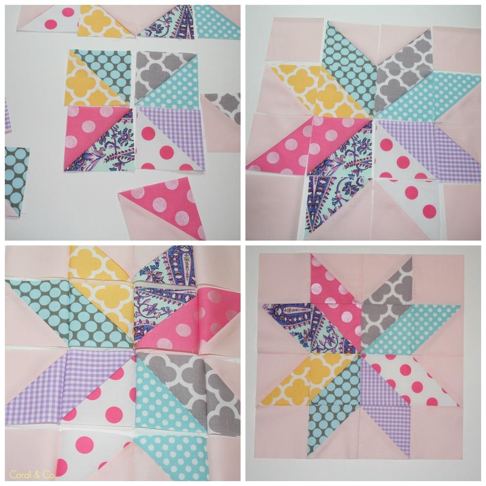 Free Star Flower Quilt Patterns : Star Flower Quilt Block Tutorial AllFreeSewing.com