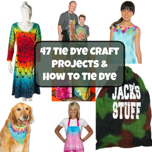 47 Tie Dye Craft Projects and How to Tie Dye Read more at http://www.favecrafts.com/Tie-Dye/Tie-Dye-Craft-Projects-from-Tulip#c4QKGdsBGD744c97.99