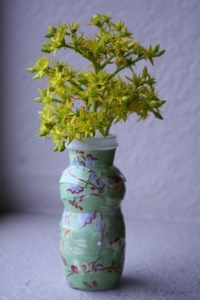 Recycled Yogurt Cup Bud Vase