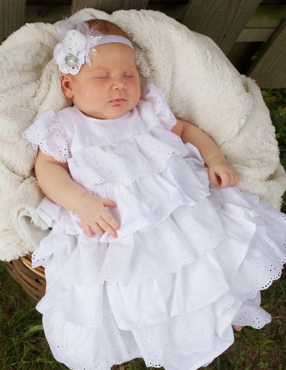 Нарядное крестильное платье для девочки своими руками 20