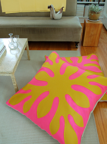 How To Make A Giant Floor Pillow : Hawaiian Style Felt Floor Pillows AllFreeSewing.com