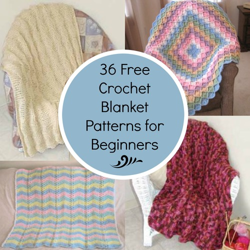 36 Free Crochet Blanket Patterns for Beginners