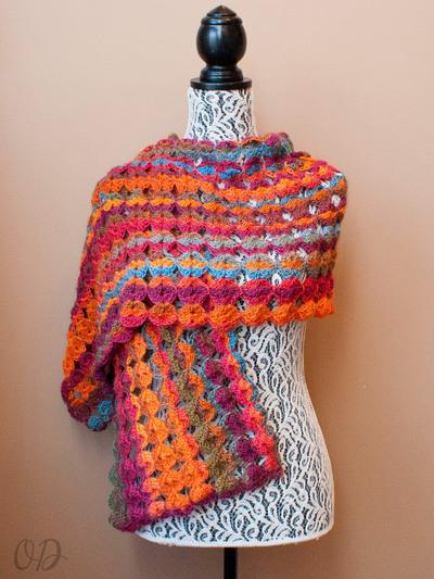 Painted Sunrise Summer Crochet Wrap AllFreeCrochet.com