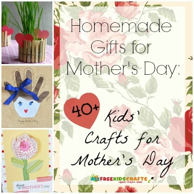 Homemade gifts for mother 39 s day 41 kids 39 crafts for for Craft gifts for mom