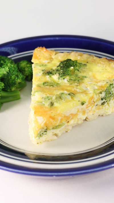 Broccoli and Cheddar Quiche with a Brown Rice Crust ...