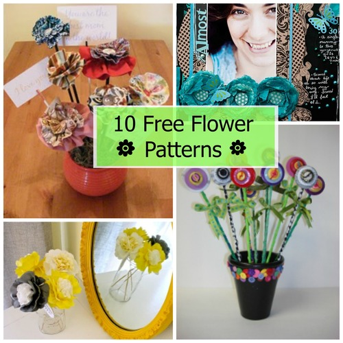 10 Free Flower Patterns