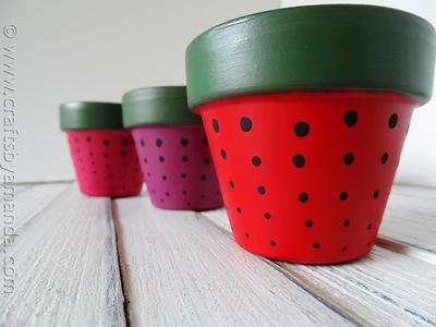Sweet Strawberry Terracotta Pots