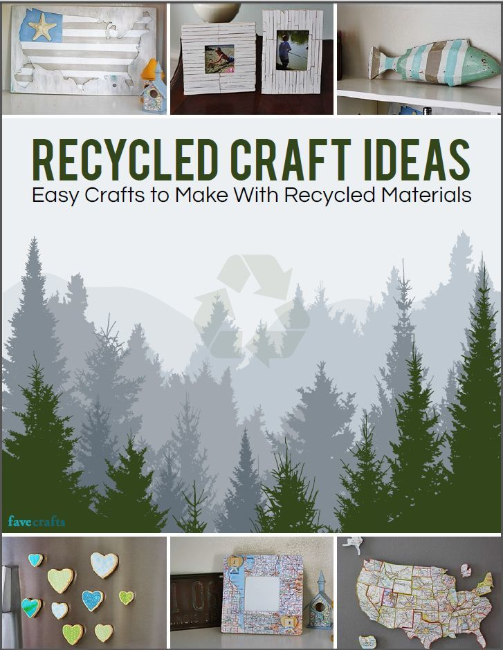 Recycled craft ideas easy crafts to make with recycled for Easy recycling project ideas