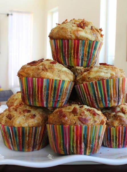 Spicy Cheese Bacon Ranch Muffins | FaveSouthernRecipes.com
