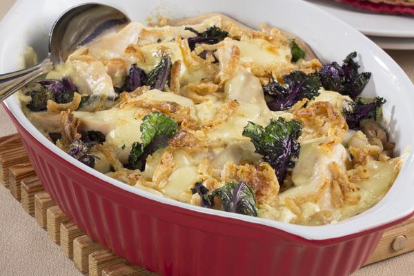 Creamy Chicken Kale Casserole   MrFood.com