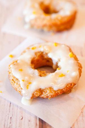 Baked Orange Coconut Banana Doughnuts
