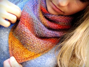 Sunset Scarf Knitting Pattern