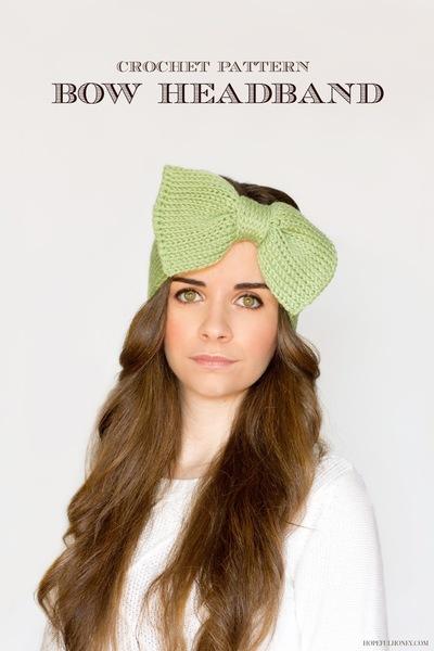 Crochet Bow Headband Pattern FaveCrafts.com