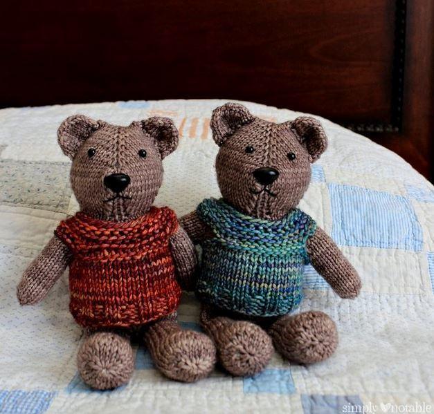 Nearly No-Seams Knit Teddy AllFreeKnitting.com