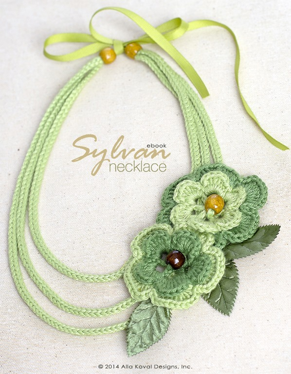 Easy Flower Crochet Necklace Pattern FaveCrafts.com
