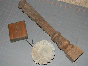 spindle, base, and pan