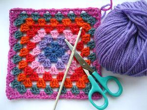 Classic Granny Blanket Crochet Edging
