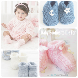 Knit Baby Booties to Die For