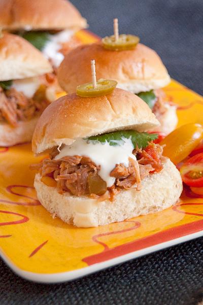 Southwest Slow Cooker Pulled Pork Sliders