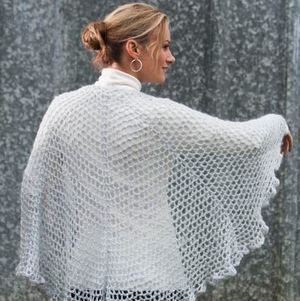 Draping Lace Crochet Shawl