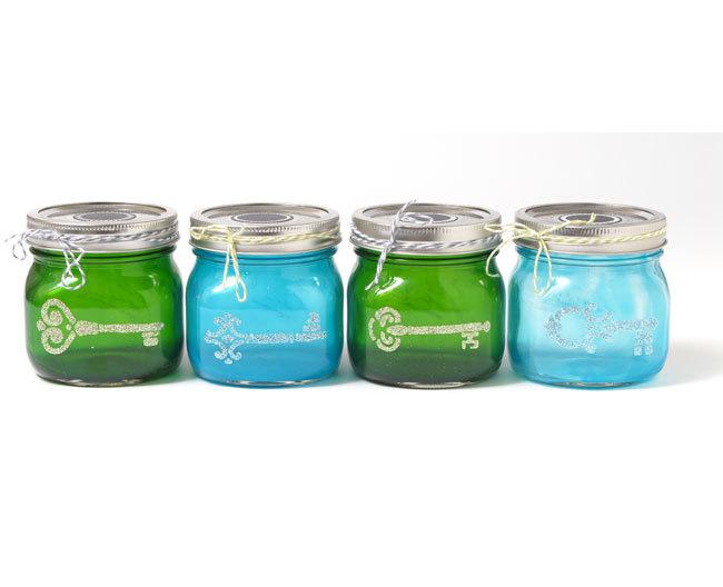 Colorful mini mason jars for Mason jar craft storage