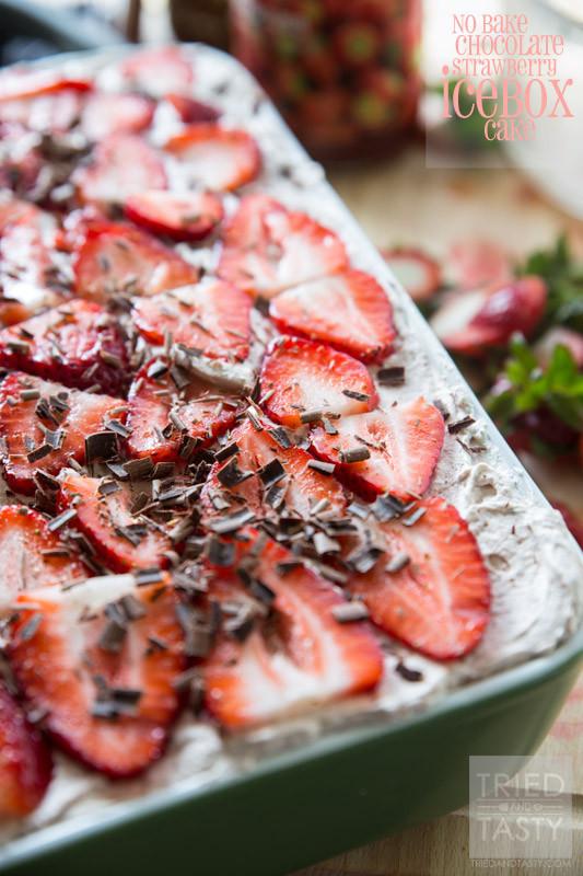 No Bake Chocolate Strawberry Icebox Cake | RecipeLion.com