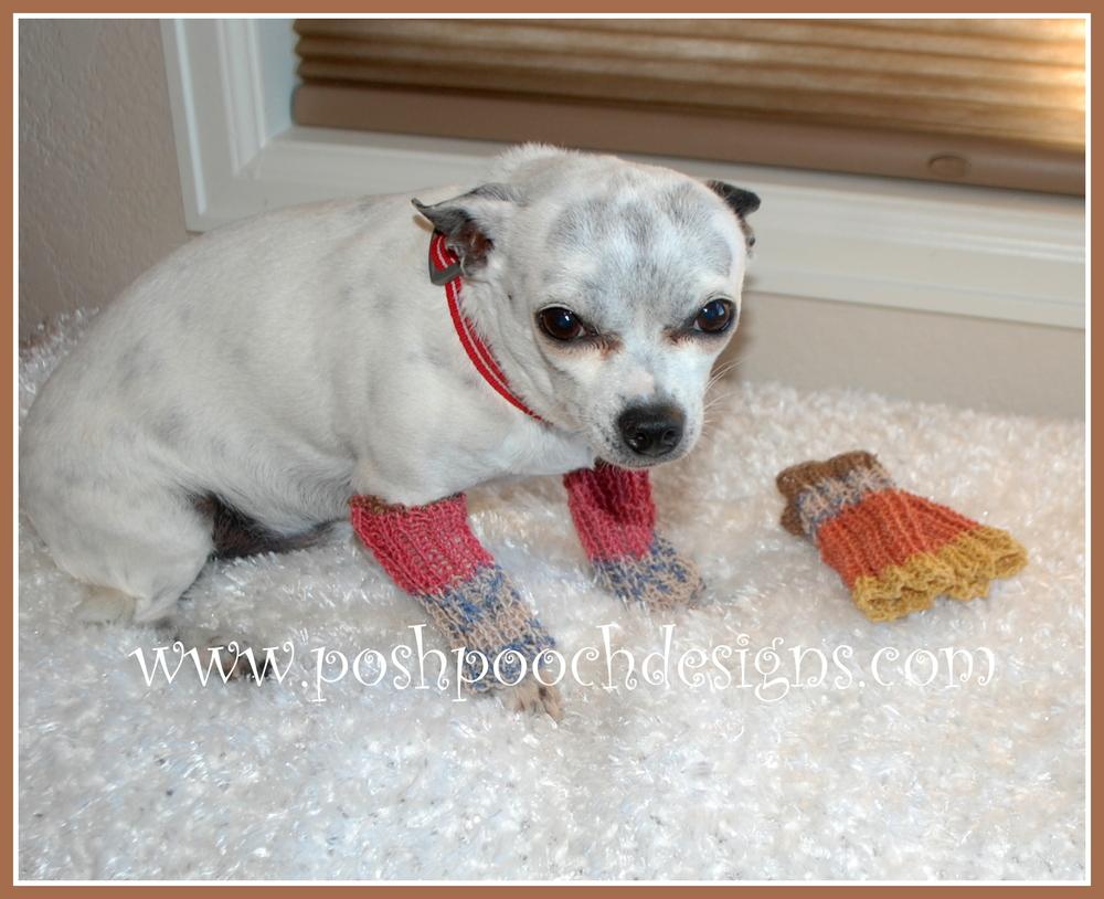 Dog Leg Warmers Knitting Pattern : Leg Warmers for Dogs AllFreeKnitting.com