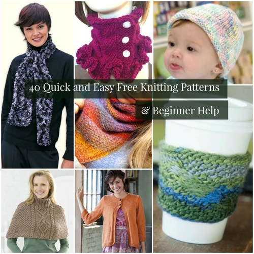 40 Quick and Easy Free Knitting Patterns and Beginner Help