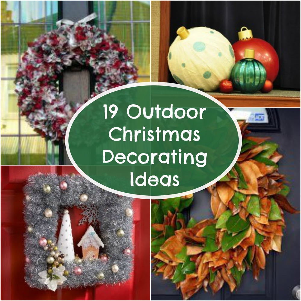 19 outdoor christmas decorating ideas Large outdoor christmas decorations to make