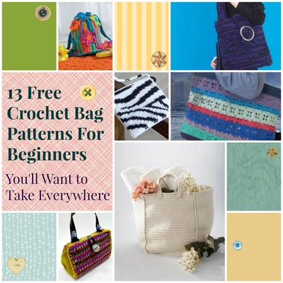 Beginner Crochet Tote Bag Pattern : 13 Free Crochet Bag Patterns for Beginners Youll Want to Take ...
