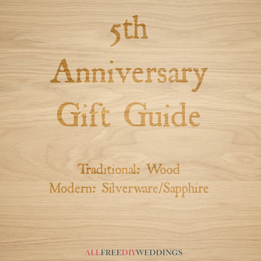 5th Anniversary Modern And Traditional Anniversary Gifts
