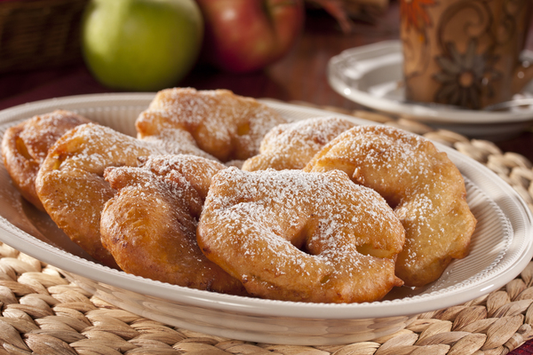 Deep Fried Apple Fritters Recipe — Dishmaps
