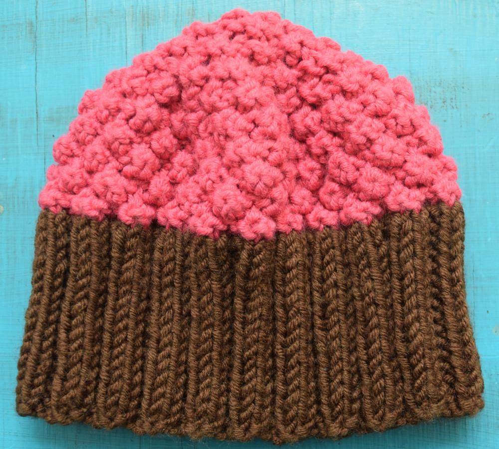 Cupcake Hat AllFreeKnitting.com